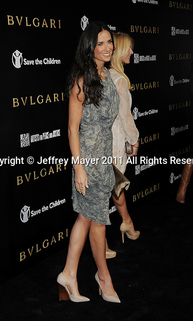 LOS ANGELES, CA - January 13: Demi Moore attends Save The Children's U.S. Programs And Artists For Peace And Justice Hosted By Bulgari at Ron Burkle's Green Acres Estate on January 13, 2011 in Beverly Hills, California.