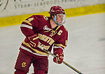 19 February 2016: Boston College Eagle Defenseman Teddy Doherty, a Senior from Hopkinton, MA, in action during the second period against the University of Vermont Catamounts at Gutterson Fieldhouse in Burlington, Vermont. The Eagles defeated the Catamounts 3-1 in the first game of their weekend series. Mandatory Credit: Ed Wolfstein Photo *** RAW (NEF) Image File Available ***