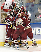 Joe Rooney, Mike Brennan, Stephen Gionta, Matt Greene, Tim Filangieri - The Boston College Eagles defeated the Boston University Terriers 5-0 on Saturday, March 25, 2006, in the Northeast Regional Final at the DCU Center in Worcester, MA.