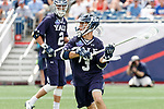 Joseph Sessa  (#3) on attack as Yale defeats UAlbany 20-11 in the NCAAA semifinal game at Gillette Stadium, May 26.