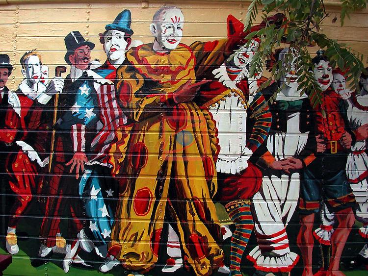 Street Art-Graffittis.<br /> Barcelona.<br /> Circ Raluy.