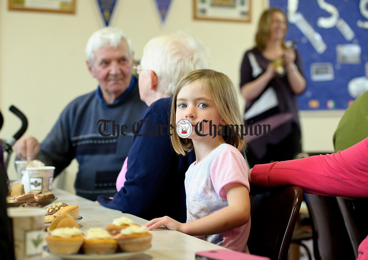 Laura Mc Gann takes it all in during Grandparents day at Feakle National School. Photograph by John Kelly.