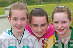 Enjoying the fun day at Lyrecrompane sports grounds on Sunday were Yvonne Murphy, Cli? ona Leane and Ciara Buckley..