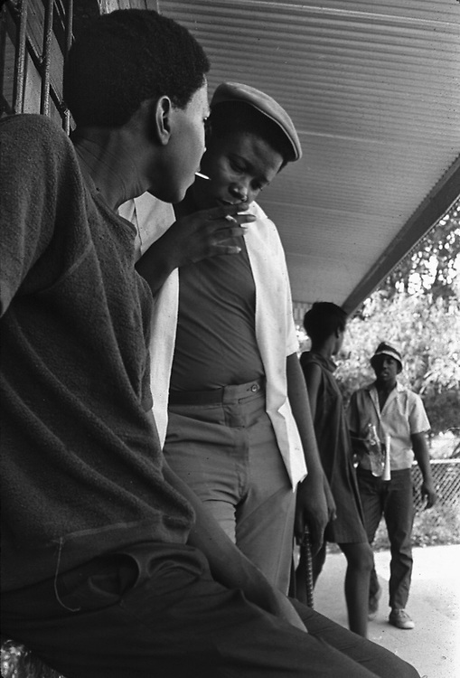 Young men of Newtown area of Montgomery, Ala,hanging out by a neighborhood store. From an essay photographed by Jim Peppler for The Southern Courier in August, 1967. Copyright Jim Peppler/1967. This and over 10,000 other images are part of the Jim Peppler Collection at The Alabama Department of Archives and History:  http://digital.archives.alabama.gov/cdm4/peppler.php