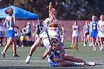 Santa Barbara, CA 02/13/10 - Taylor Leffler (Florida # 13) and Ashley Antoon-Algieri (UCSB # 36) in action during the UCSB-Florida game at the 2010 Santa Barbara Shoutout, UCSB defeated Florida 9-8.