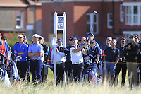 Alex Fitzpatrick (GB&I) on the 17th tee during Day 2 Foursomes of the Walker Cup, Royal Liverpool Golf CLub, Hoylake, Cheshire, England. 08/09/2019.<br /> Picture Thos Caffrey / Golffile.ie<br /> <br /> All photo usage must carry mandatory copyright credit (© Golffile | Thos Caffrey)