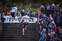 Laurens Sweeck (BEL) and Toon Aerts (BEL) chasing the leaders. <br /> <br /> UEC CYCLO-CROSS EUROPEAN CHAMPIONSHIPS 2018<br /> 's-Hertogenbosch – The Netherlands<br /> Men Elite Race