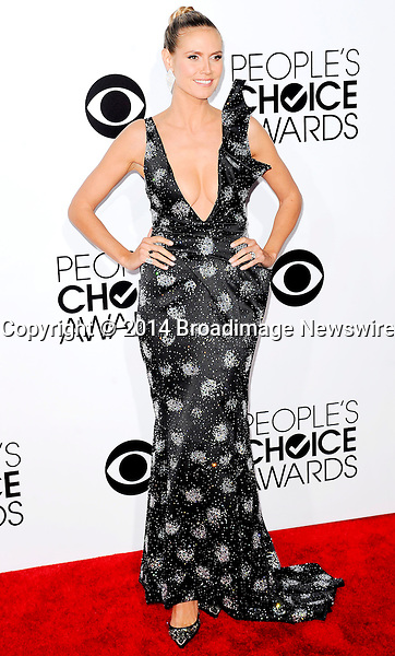 Pictured: Heidi Klum<br /> Mandatory Credit &copy; Adhemar Sburlati/Broadimage<br /> People's Choice Awards 2014 - Arrivals<br /> <br /> 1/8/14, Los Angeles, California, United States of America<br /> <br /> Broadimage Newswire<br /> Los Angeles 1+  (310) 301-1027<br /> New York      1+  (646) 827-9134<br /> sales@broadimage.com<br /> http://www.broadimage.com