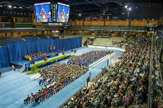 May 16, 2015; Graduate School Commencement ceremony, 2015. (Photo by Matt Cashore/University of Notre Dame)