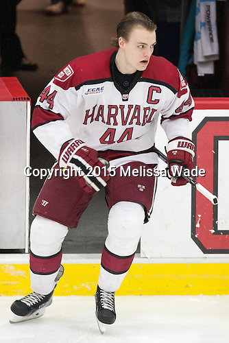 Max Everson (Harvard - 44) - The Harvard University Crimson defeated the Brown University Bears 4-3 to sweep their first round match up in the ECAC playoffs on Saturday, March 7, 2015, at Bright-Landry Hockey Center in Cambridge, Massachusetts.