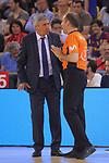 League ACB-ENDESA 2017/2018.<br /> PlayOff-Semifinal-Game: 3<br /> FC Barcelona Lassa vs Kirolbet Baskonia: 67-65.<br /> Emilio Perez Pizarro &amp; Svetislav Pesic.