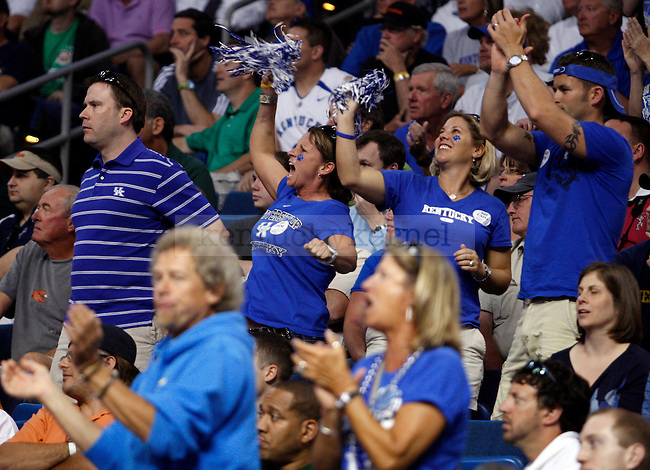 UK fans get loud in the second half UK's first round NCAA tournament win against Princeton at the St. Pete Times Forum in Tampa, Florida on Thursday, March 17, 2011.  Photo by Britney McIntosh | Staff