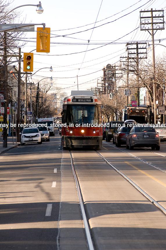Neville Park Street car Toronto Ontario Canada