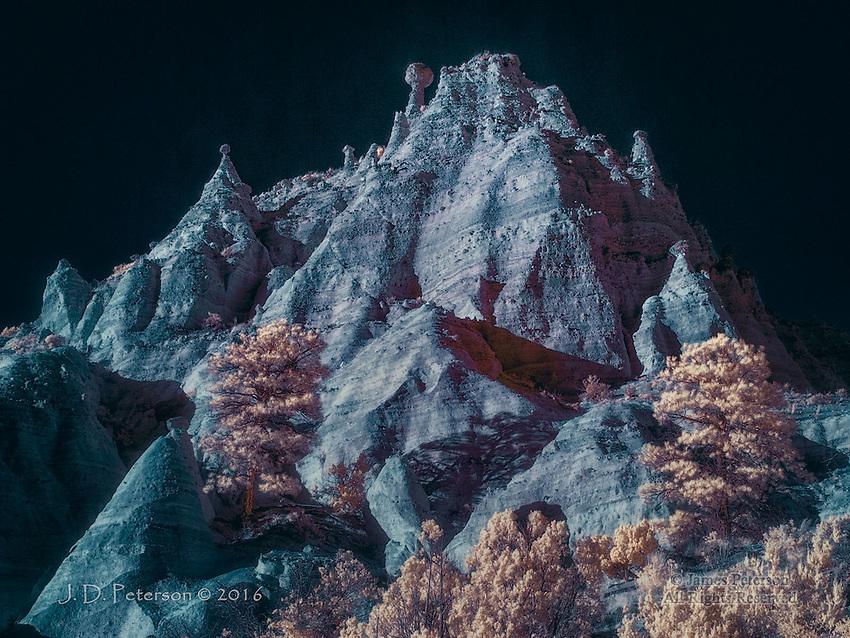 Ridgetop, Kasha-Katuwe Tent Rocks National Monument, New Mexico (Infrared)
