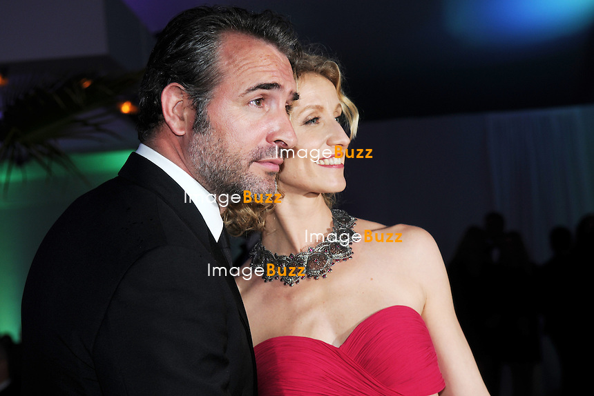"Jean Dujardin and Alexandra Lamy attend the "" Amour ""' Premiere at the 65th Annual Cannes Film Festival at the Palais des Festivals. .May 20th, 2012 - Cannes, France.."