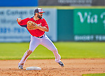 9 March 2013: Washington Nationals second baseman Danny Espinosa turns a double-play during a Spring Training game against the Miami Marlins at Space Coast Stadium in Viera, Florida. The Nationals edged out the Marlins 8-7 in Grapefruit League play. Mandatory Credit: Ed Wolfstein Photo *** RAW (NEF) Image File Available ***