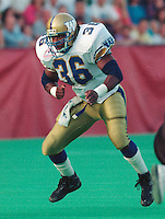 Paul Randolph Winnipeg Blue Bombers 1992. Copyright photograph Scott Grant