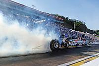 Jun. 15, 2012; Bristol, TN, USA: NHRA top fuel dragster driver Brandon Bernstein during qualifying for the Thunder Valley Nationals at Bristol Dragway. Mandatory Credit: Mark J. Rebilas-