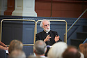 Rowan Williams, Archbishop of Canterbury at The Sheldonian Theatre  at The Sunday Times Oxford Literary Festival  . Credit Geraint Lewis