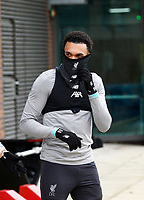 10th March 2020; Anfield, Liverpool, Merseyside, England; UEFA Champions League, Liverpool versus Atletico Madrid, Liverpool training; Trent Alexander-Arnold of Liverpool during today's open training session at Melwood ahead of tomorrow's Champions League match against Atletico Madrid