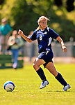 2 September 2007: University of New Hampshire Wildcats' Meg Wiley, a Sophomore from Norwell, Mass., in action against the University of Central Arkansas Sugar Bears at Historic Centennial Field in Burlington, Vermont. The Wilcats shut out the Sugar Bears 3-0 during the TD Banknorth Soccer Classic...Mandatory Photo Credit: Ed Wolfstein Photo