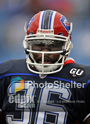 7 September 2008:  Buffalo Bills' FB Darian Barnes warms up prior to a game against the Seattle Seahawks at Ralph Wilson Stadium in Orchard Park, NY. The Bills defeated the Seahawks 34-10 in the season opening game...Mandatory Photo Credit: Ed Wolfstein Photo