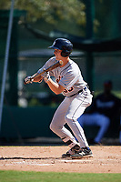 Detroit Tigers Luke Burch (58) squares to bunt during an Instructional League game against the Atlanta Braves on October 10, 2017 at the ESPN Wide World of Sports Complex in Orlando, Florida.  (Mike Janes/Four Seam Images)