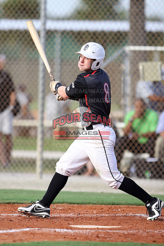 Travis Tokarek, #8 of Carroll High School, IN for the Lids Indiana Bull Team during the WWBA World Championship 2013 at the Roger Dean Complex on October 25, 2013 in Jupiter, Florida. (Stacy Jo Grant/Four Seam Images)