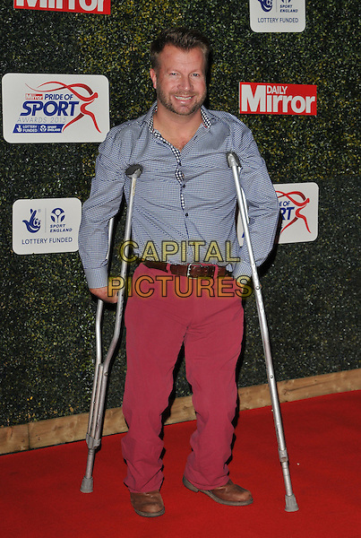 Lee Pearson attends the Daily Mirror Pride of Sport Awards 2015, Grosvenor House Hotel, Park Lane, London, England, UK, on Wednesday 25 November 2015. <br /> CAP/CAN<br /> &copy;Can Nguyen/Capital Pictures