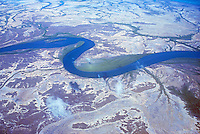 Aerial view over coastal floodplains in North Western Australia