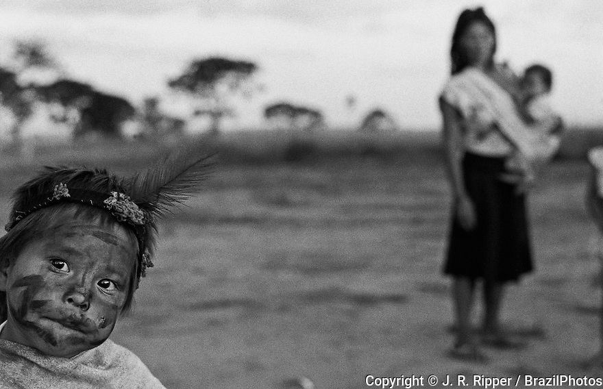 Guarani Kaiowa indigenous people, Mato Grosso do Sul State, Brazil.