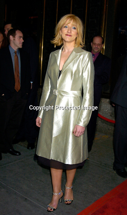"""Edie Falco..at the World Premierer of the fifth season of the HBO series ..""""The Sopranos"""" on March 2, 2004 at Radio City Music Hall.  Photo by Robin Platzer, Twin Images"""