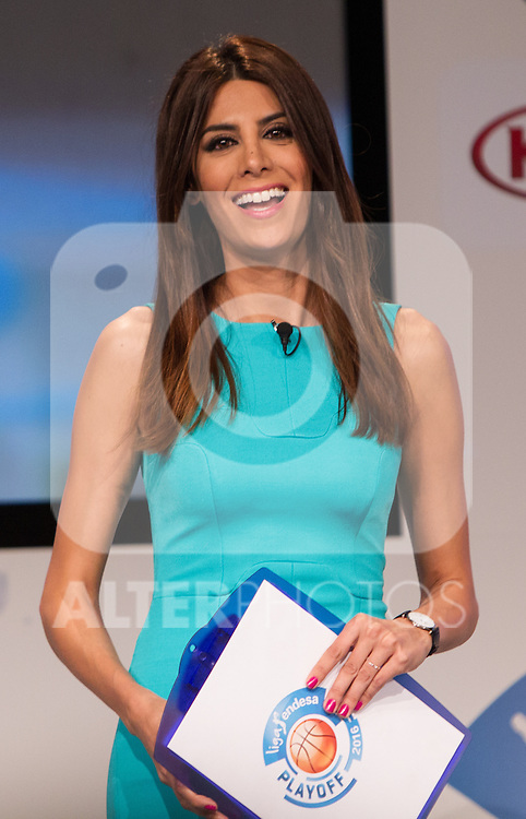 Milena Martin during presentation of the Liga Endesa playoff. May 23,2016. (ALTERPHOTOS/Rodrigo Jimenez)