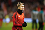 Bastian Schweinsteiger of Manchester United warms up during the UEFA Europa League match at Anfield. Photo credit should read: Philip Oldham/Sportimage