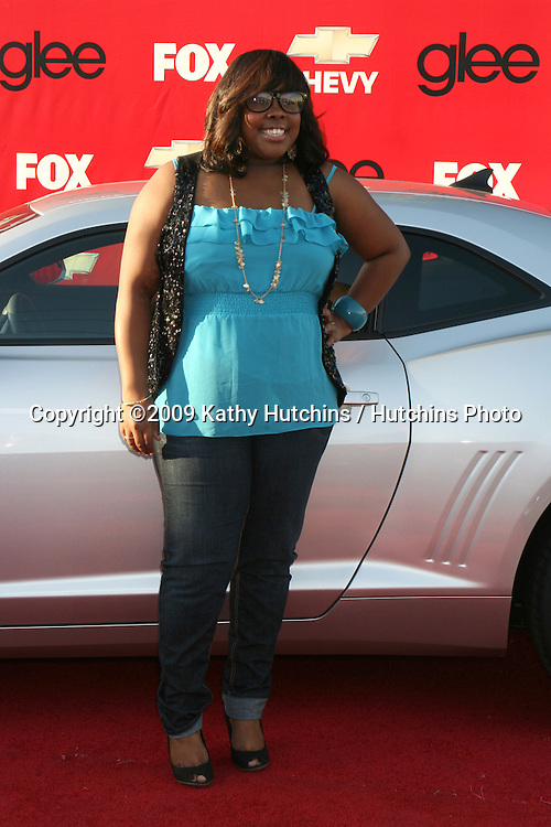 Amber Riley  arriving at the GLEE Premiere Screening & Post Party in Culver City, CA on September 8, 2009.©2009 Kathy Hutchins / Hutchins Photo.