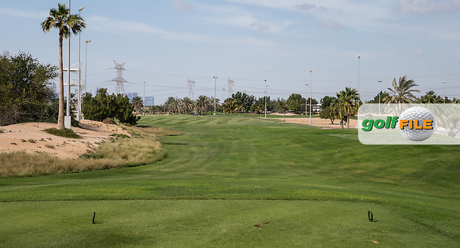 4th tee, The Track at The Meydan Golf Club, Dubai, United Arab Emirates.  31/01/2016. Picture: Golffile | David Lloyd<br /> <br /> All photos usage must carry mandatory copyright credit (&copy; Golffile | David Lloyd)