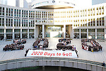 Commemorative photo session, JANUARY 12, 2015 : <br /> The Tokyo Organising Committee of the Olympic and Paralympic Games (TOCOG) countdown event &quot;Everyone's Start! 2020 days to Tokyo 2020&quot; at Tokyo Metropolitan Government, Tokyo, Japan. (Photo by AFLO SPORT)
