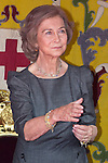 10.10.2012. Queen Sofia of Spain attends ´Cruz Roja´ (Red Cross) Fundraising Day in the Congress of Deputies, Madrid, Spain. In the image Queen Sofia (Alterphotos/Marta Gonzalez)