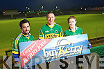 Senior Kerry Footballers Paul Galvin, Kieran Donaghy and Colm Cooper support the BuyKerry Campaign.