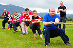 Heave: Jimmy O'Briens team in action at the Tug of War event in Killarney Racecouse on sunday
