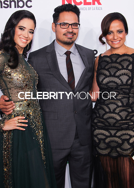 PASADENA, CA, USA - OCTOBER 10: Edy Ganem, Michael Pena, Judy Reyes arrive at the 2014 NCLR ALMA Awards held at the Pasadena Civic Auditorium on October 10, 2014 in Pasadena, California, United States. (Photo by Celebrity Monitor)