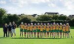 The  Inagh-Kilnamona team stand for the anthem before their senior county final in Clarecastle. Photograph by John Kelly.