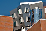 The colorful and unique buildings by architect Frank Gehry at MIT, Massachusetts Institute of Technology, in Boston