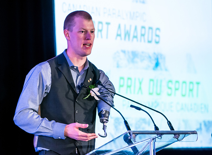 Highlights from the awards luncheon at the CPC Paralympic Summit 2018 at the Palliser Hotel in Calgary, Alberta on November 15, 2018. Mark Arendz takes home best male athlete award.