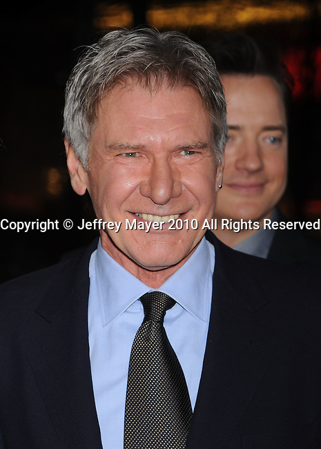 """HOLLYWOOD, CA. - January 19: Harrison Ford  arrives to the """"Extraordinary Measures"""" Los Angeles Premiere at Grauman's Chinese Theatre on January 19, 2010 in Hollywood, California."""