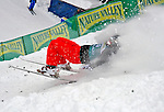 16 January 2009: Nicolas Thepaut from France loses balance at landing his aerial acrobatics during the FIS Freestyle World Cup warm-ups at the Olympic Ski Jumping Facility in Lake Placid, NY, USA. Mandatory Photo Credit: Ed Wolfstein Photo. Contact: Ed Wolfstein, Burlington, Vermont, USA. Telephone 802-864-8334. e-mail: ed@wolfstein.net