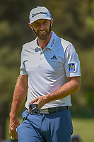 Dustin Johnson (USA) after sinking his putt on 13 during round 1 of the World Golf Championships, Mexico, Club De Golf Chapultepec, Mexico City, Mexico. 3/1/2018.<br /> Picture: Golffile | Ken Murray<br /> <br /> <br /> All photo usage must carry mandatory copyright credit (&copy; Golffile | Ken Murray)