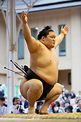 April 17th 2017, Tokyo, Japan;  Goeido, Sumo : Yasukuni Shrine Honozumo is a ceremonial annual sumo tournament held in the precincts of the Yasukuni Shrine in Tokyo, Japan.
