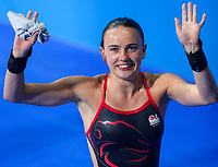 Picture by Alex Whitehead/SWpix.com - 12/04/2018 - Commonwealth Games - Diving - Optus Aquatics Centre, Gold Coast, Australia - Lois Toulson of England wins Bronze in the Women's 10m Platform Final.