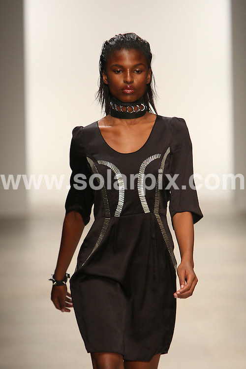 **ALL ROUND PICTURES FROM SOLARPIX.COM** **WORLDWIDE SYNDICATION RIGHTS** .Felder Felder Runway Summer Season 2012 during London Fashion Week at Somerset House in London on 16 September 2011..JOB REF:     13961     MLW     DATE: 16.09.11 .**MUST CREDIT SOLARPIX.COM OR DOUBLE FEE WILL BE CHARGED** **MUST AGREE FEE BEFORE ONLINE USAGE** **CALL US ON: +34 952 811 768 or LOW RATE FROM UK 0844 617 7637**.
